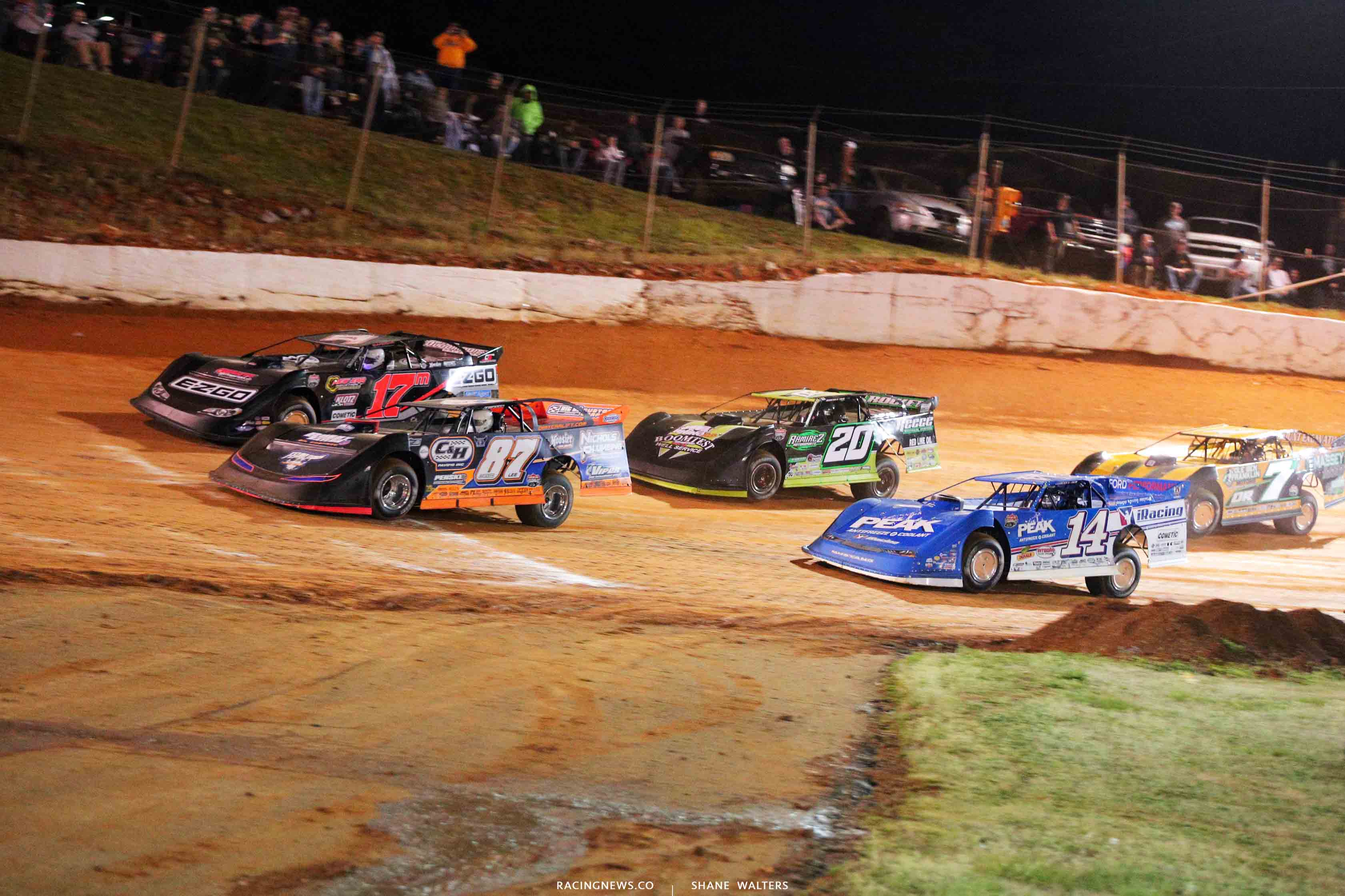 Ross Bailes, Dale McDowell, Jimmy Owens, Josh Richards and Donald McIntosh at 411 Motor Speedway 1426