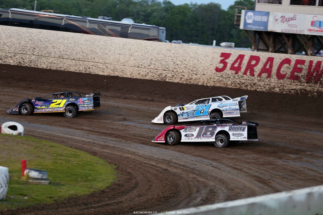 Billy Moyer, Hudson O'Neal and Shanon Babb at 34 Raceway - Lucas Dirt 3291