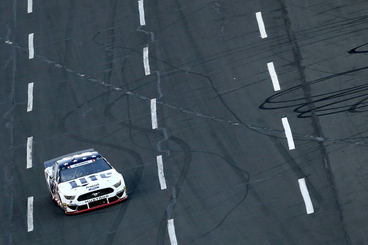 Brad Keselowski in the Coca-Cola 600 at Charlotte Motor Speedway - NASCAR