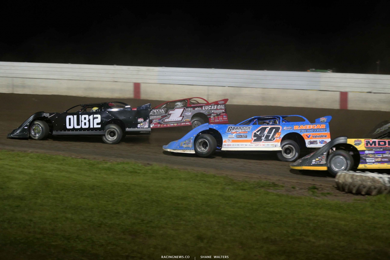 Brian Birkhofer, Earl Pearson Jr and Kyle Bronson at 300 Raceway 3768