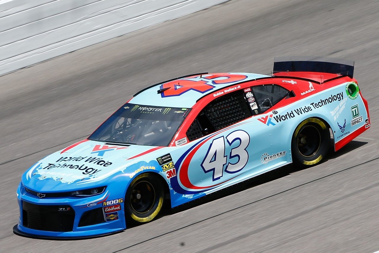 Bubba Wallace at Kansas Speedway