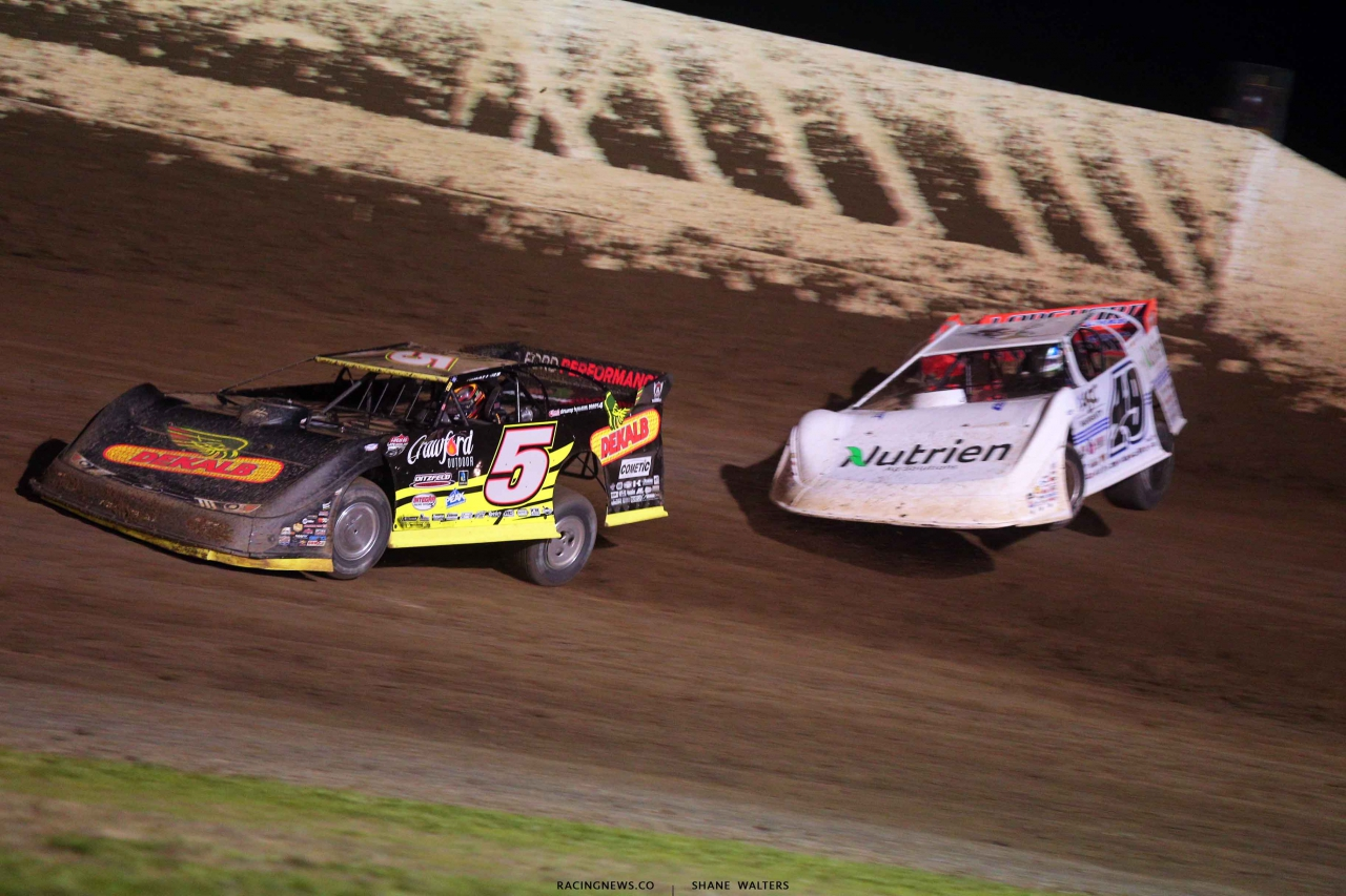 Don O'Neal and Jonathan Davenport at 34 Raceway - Lucas Oil Late Models 3486