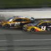 Erik Jones and Clint Bowyer at Kansas Speedway