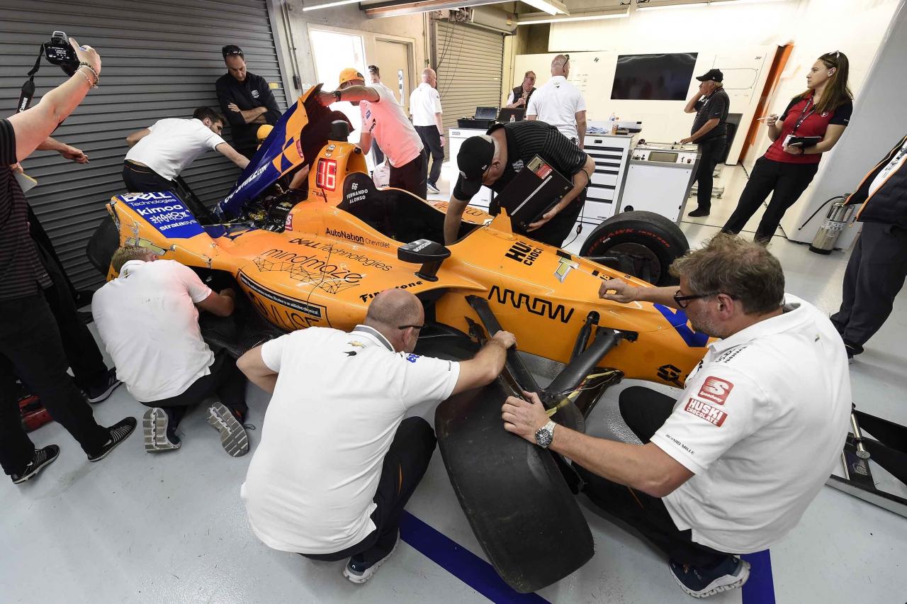 Fernando Alonso - Indianapolis Motor Speedway practice crash