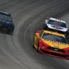 Joey Logano and Kevin Harvick at Dover International Speedway - NASCAR