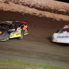 Jonathan Davenport and Don O'Neal - Dirt Late Model Bicycle at 34 Raceway 3487