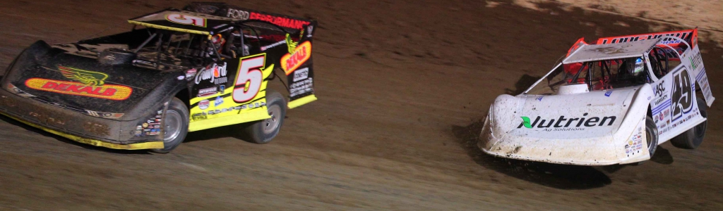 Jonathan Davenport and Don O'Neal comment after contact at 34 Raceway