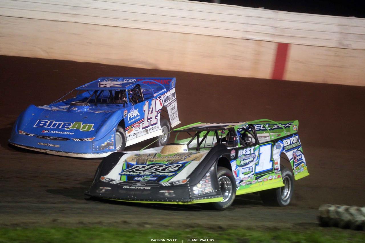 Josh RIchards and Tyler Erb at 300 Raceway - Lucas Oil Late Model Dirt Series 3778