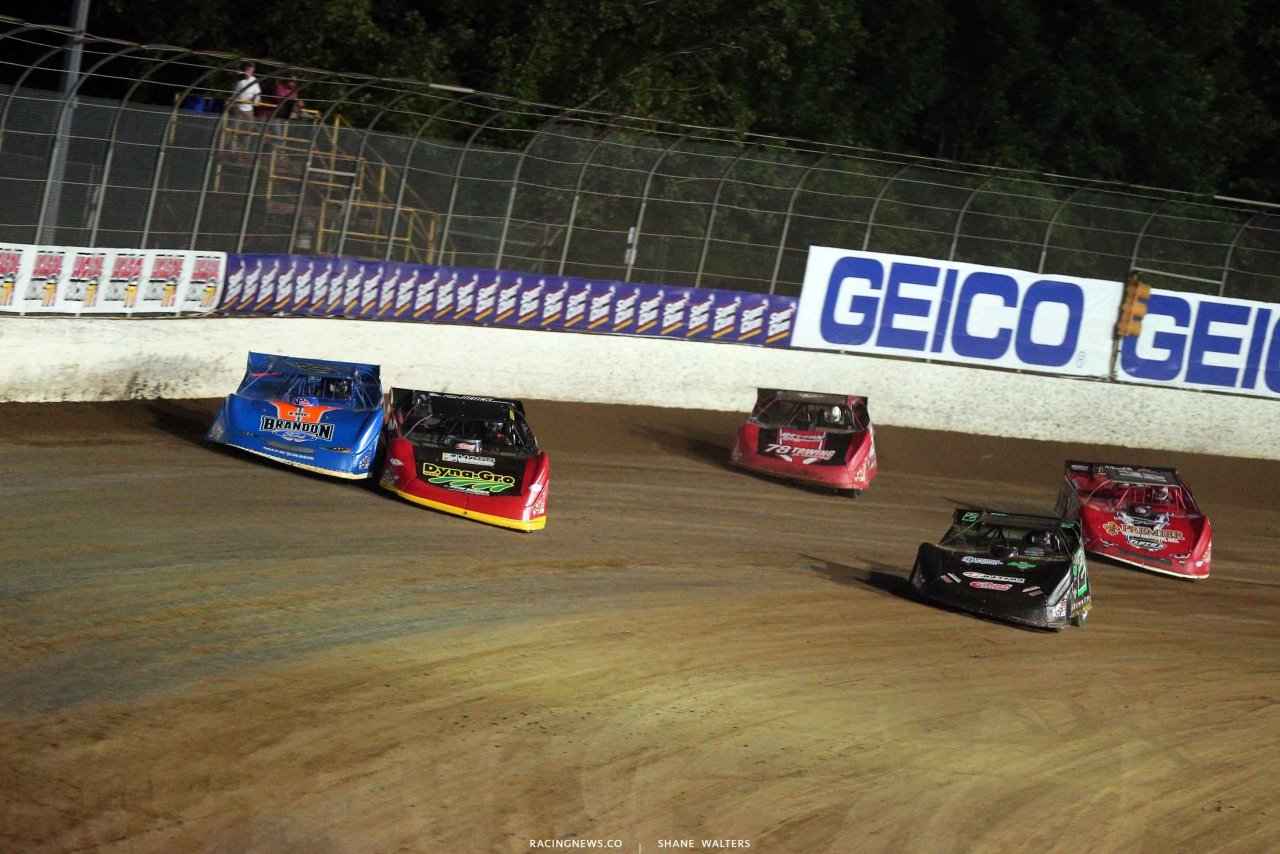 Kyle Bronson, Billy Moyer Jr, Stormy Scott and Bobby Pierce at Magnolia Motor Speedway - LOLMDS Photo 4151