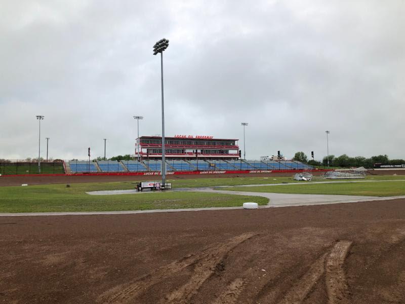 Lucas Oil Speedway damage