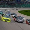 Matt Crafton, Tyler Ankrum and Harrison Burton at Kansas Speedway - NASCAR Truck Series