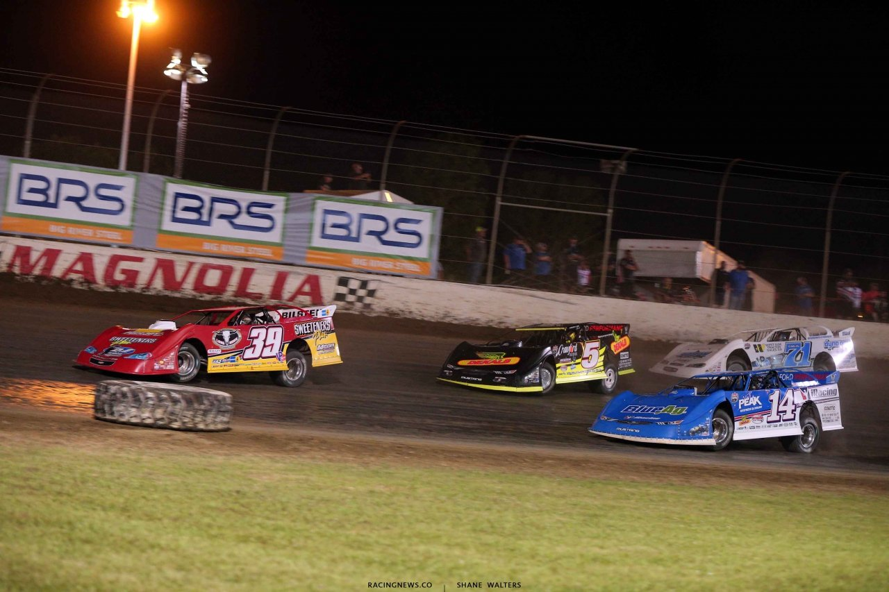 Tim McCreadie, Josh Richards, Don O'Neal and Hudson O'Neal in the Clash at The Mag - Lucas Oil Late Model Dirt Series 4262