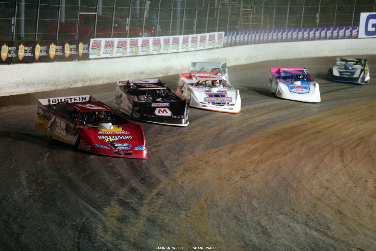 Tim McCreadie and Mike Marlar at Magnolia Motor Speedway - Lucas Oil Late Model Photo 4221