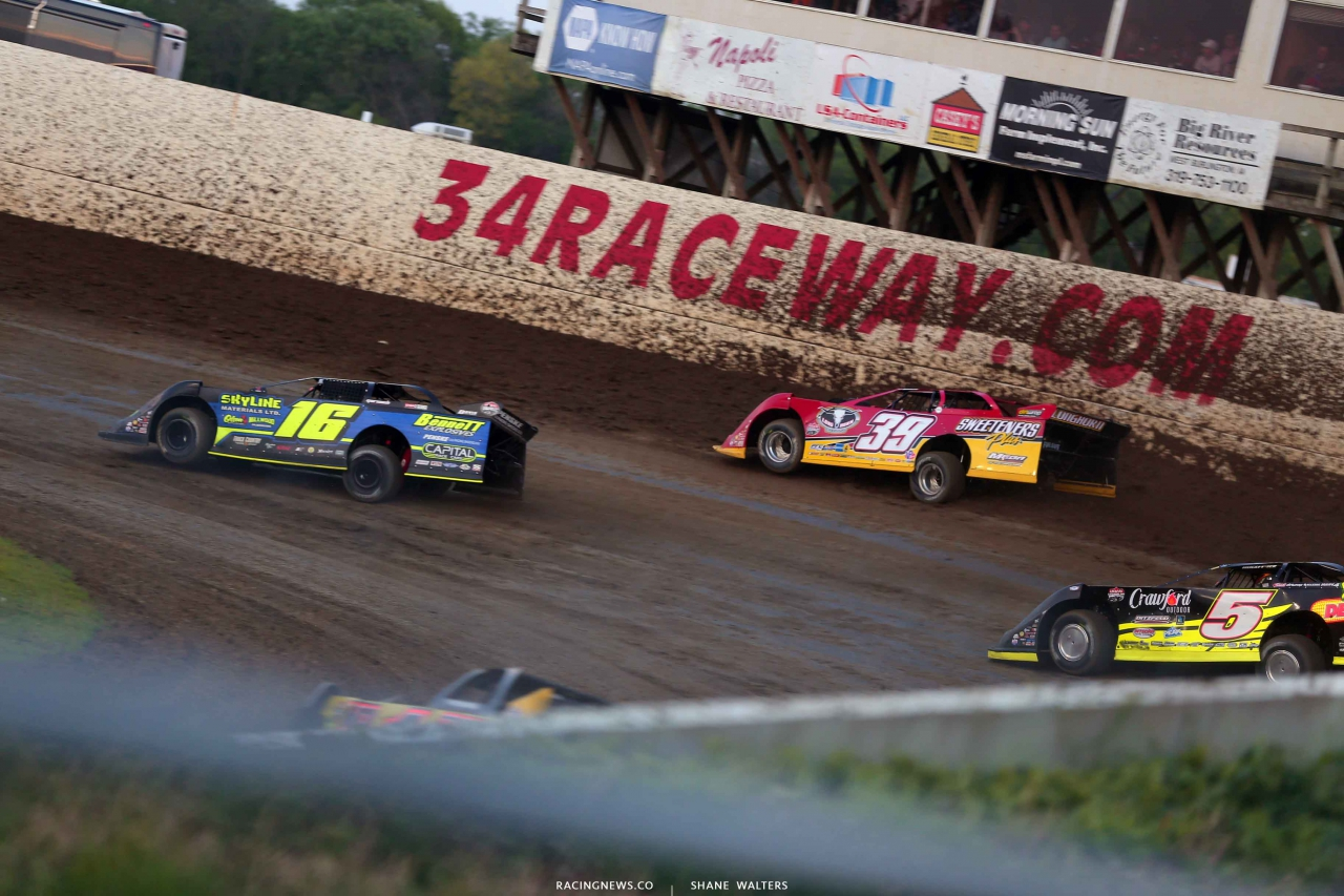 Tyler Bruening, Tim McCreadie and Don O'Neal at 34 Raceway - Lucas Oil Late Model Dirt Series 3258