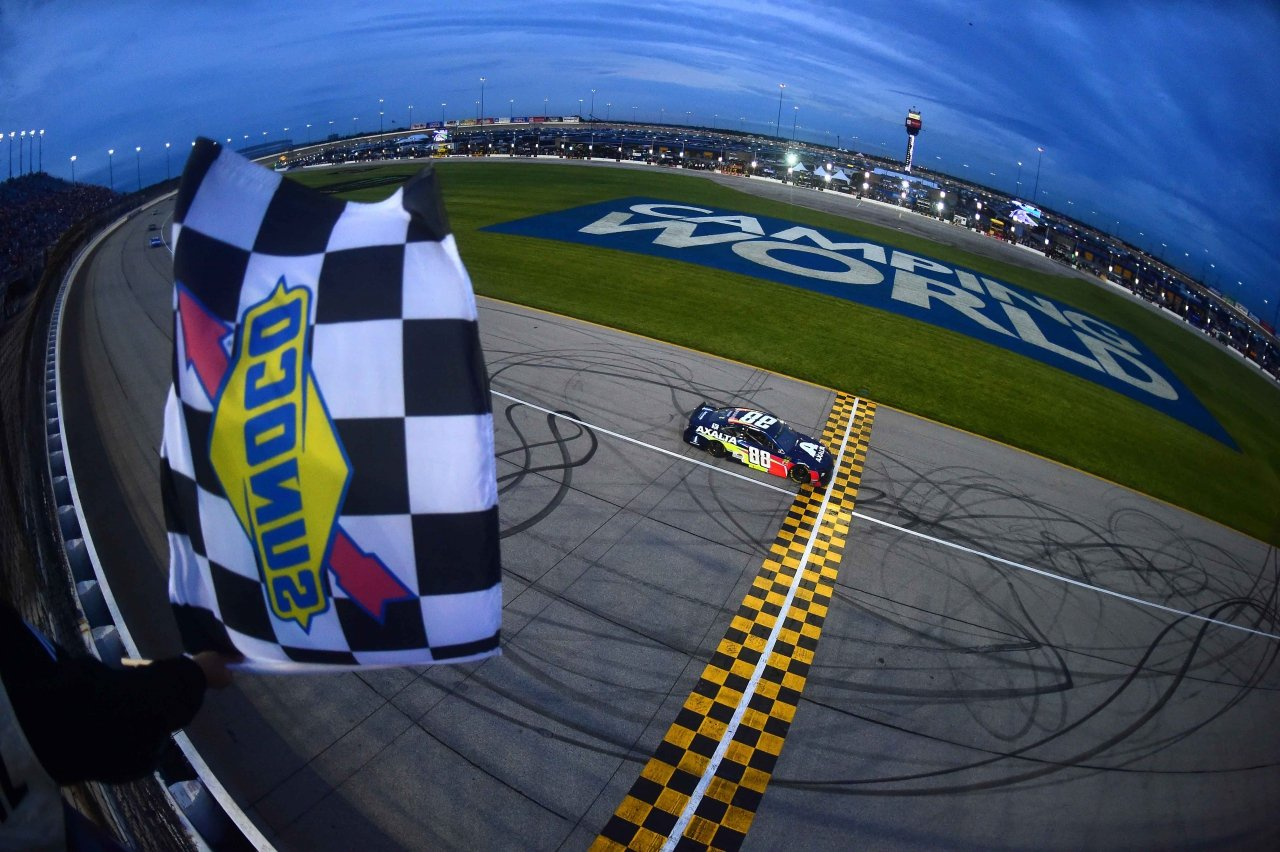 Alex Bowman wins at Chicagoland Speedway