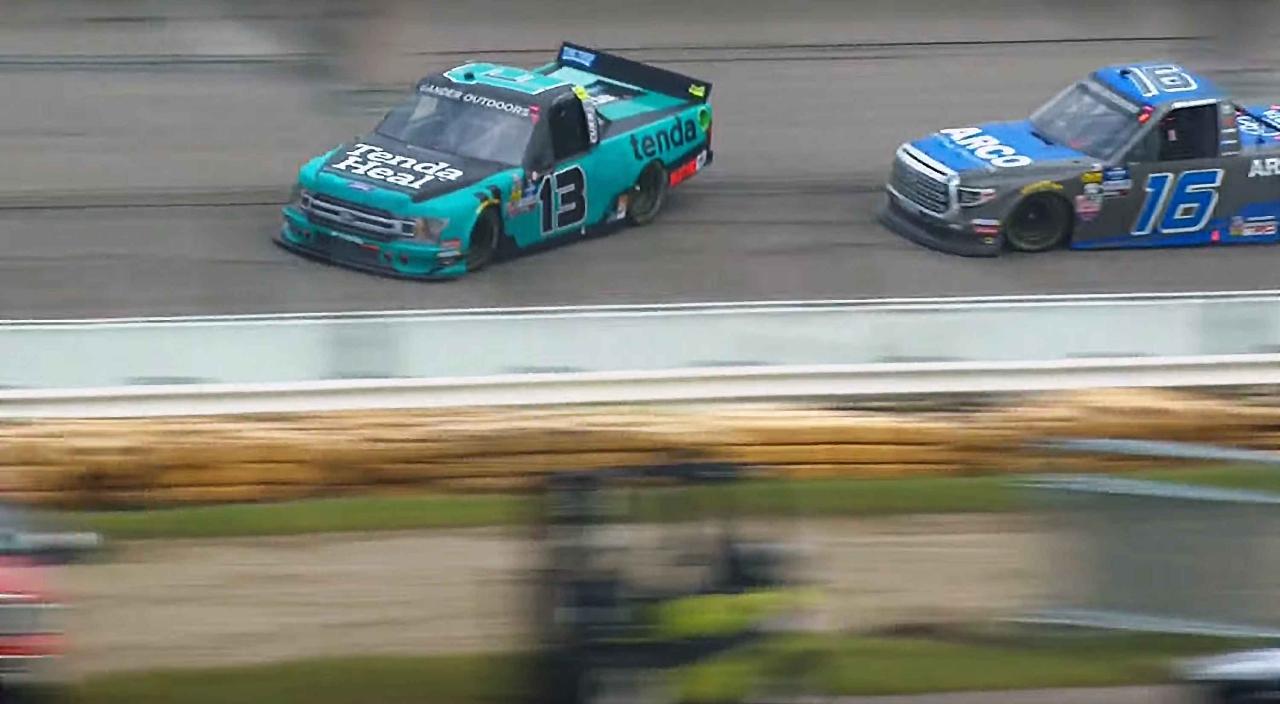 Austin Hill and Johnny Sauter at Iowa Speedway - NASCAR Truck Series