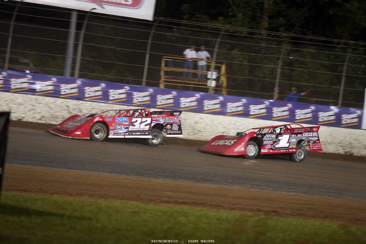 Bobby Pierce and Earl Pearson Jr at Magnolia Motor Speedway - Lucas Oil Late Models 4708