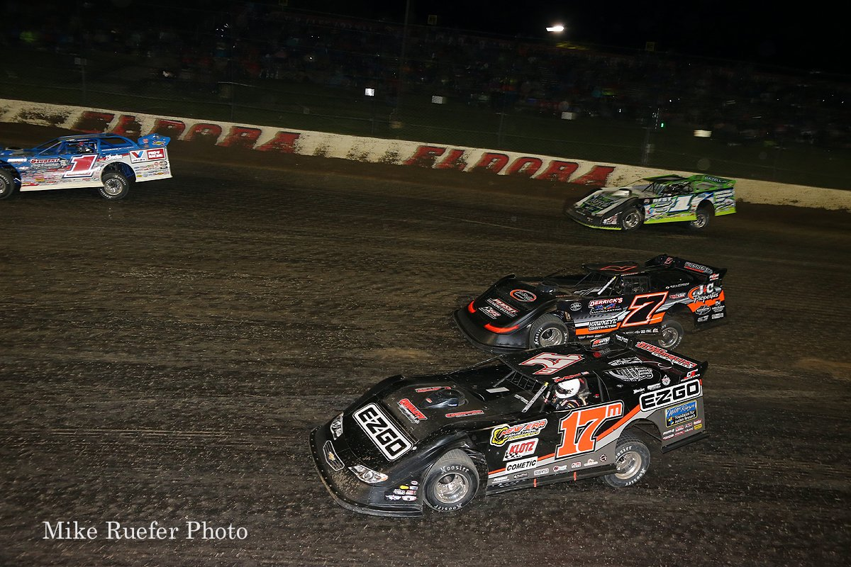Brandon Sheppard, Dale McDowell, Ricky Weiss and Tyler Erb at Eldora Speedway