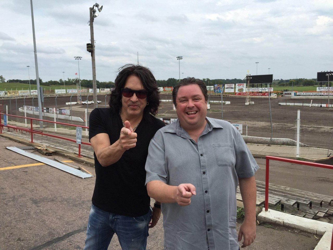 Chuck Brennan and Paul Stanley of KISS at Huset's Speedway