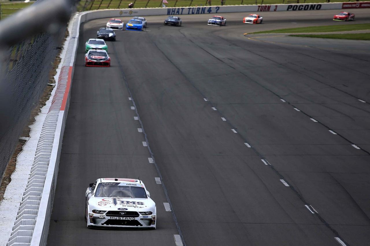 Cole Custer leads at Pocono Raceway - NASCAR Xfinity Series