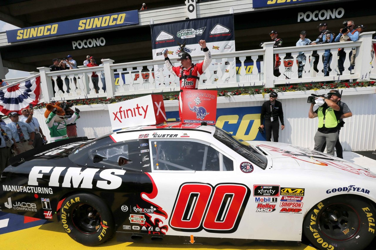 Cole Custer wins at Pocono Raceway