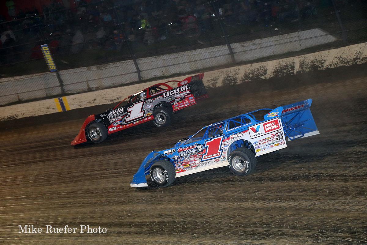 Earl Pearson jr and Brandon Sheppard at Eldora Speedway