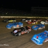 Four wide salute at Eldora Speedway