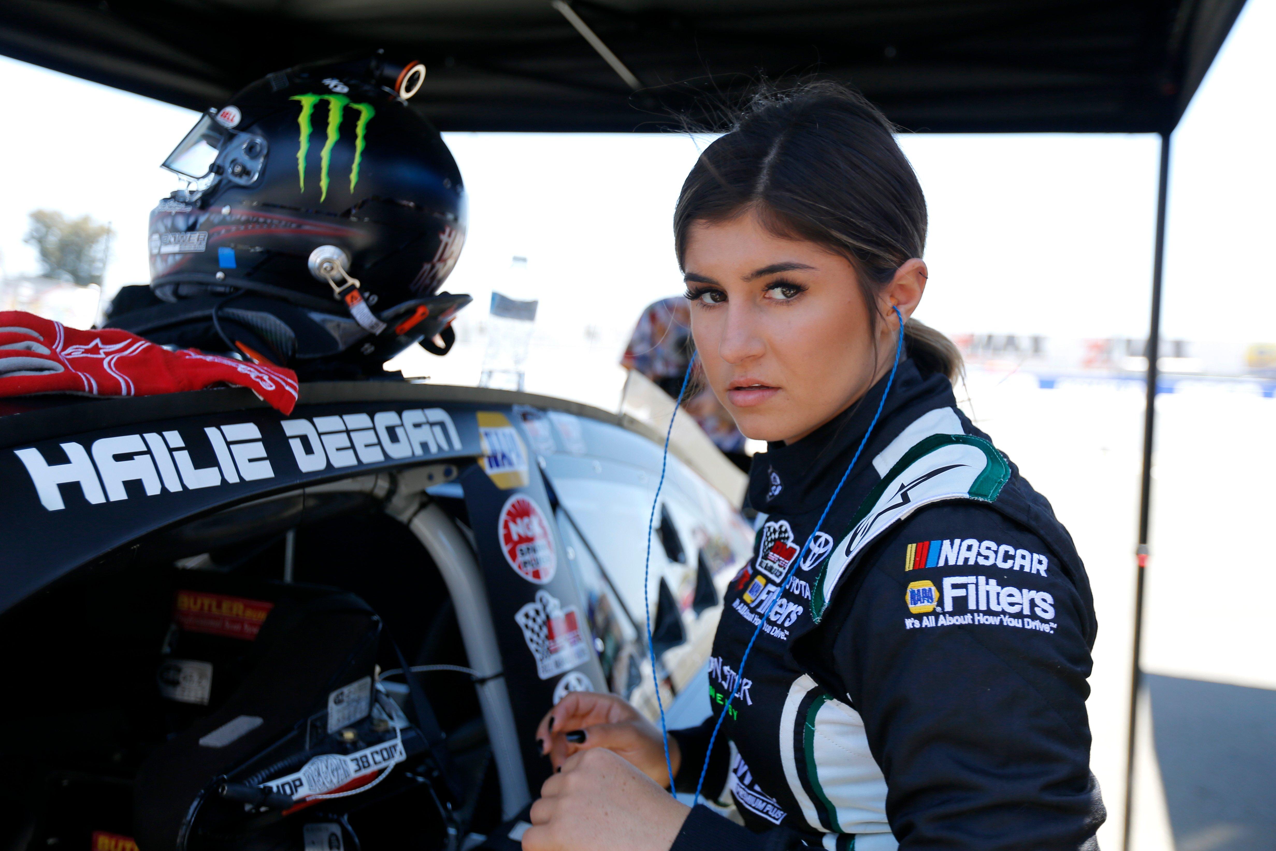 Hailie Deegan in NASCAR K&N Pro Series practice at Sonoma Raceway