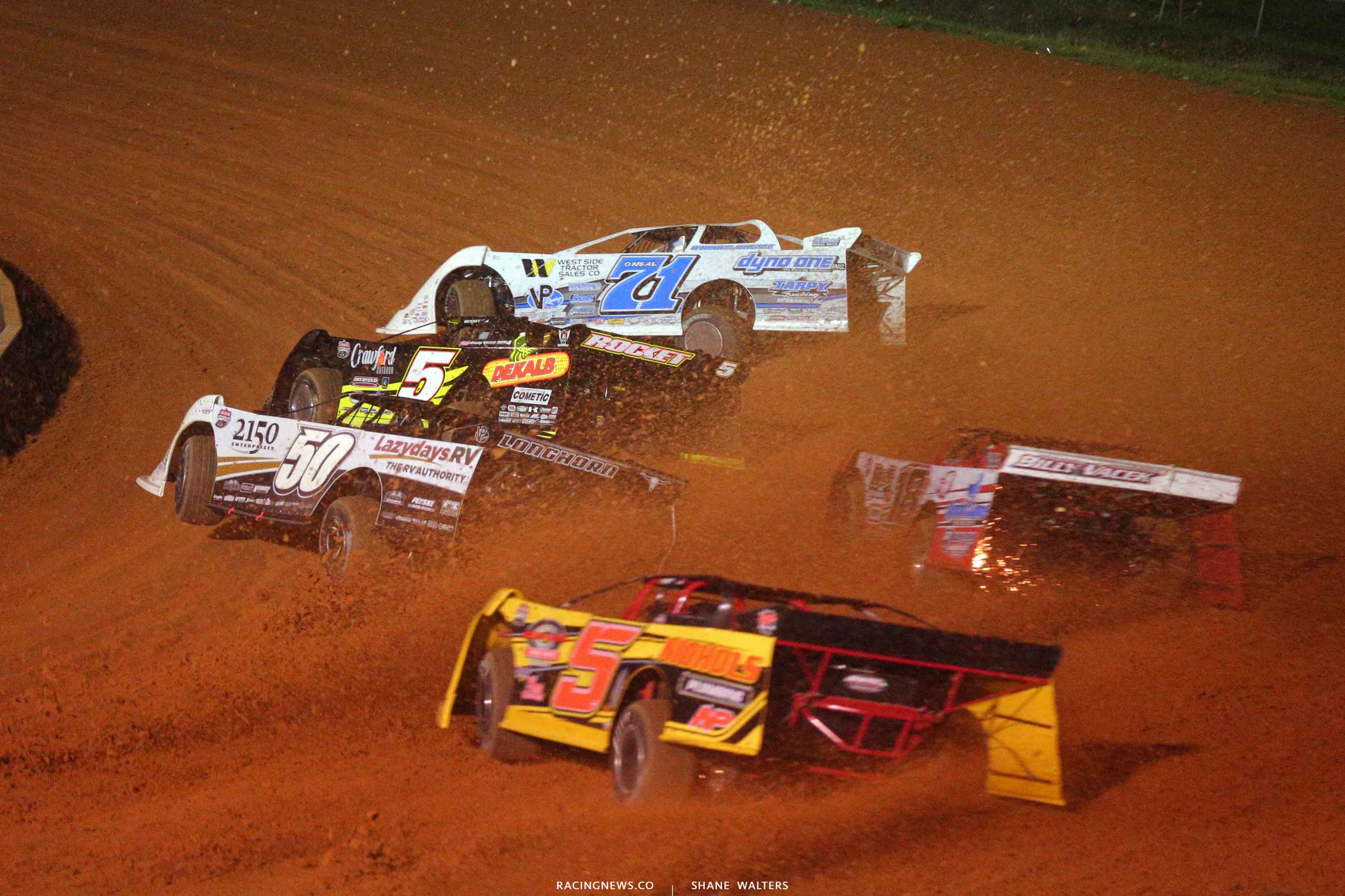 Hudson O'Neal, Don O'Neal and Shanon Buckingham at Fayetteville Motor Speedway - Lucas Oil Late Models 5085 A