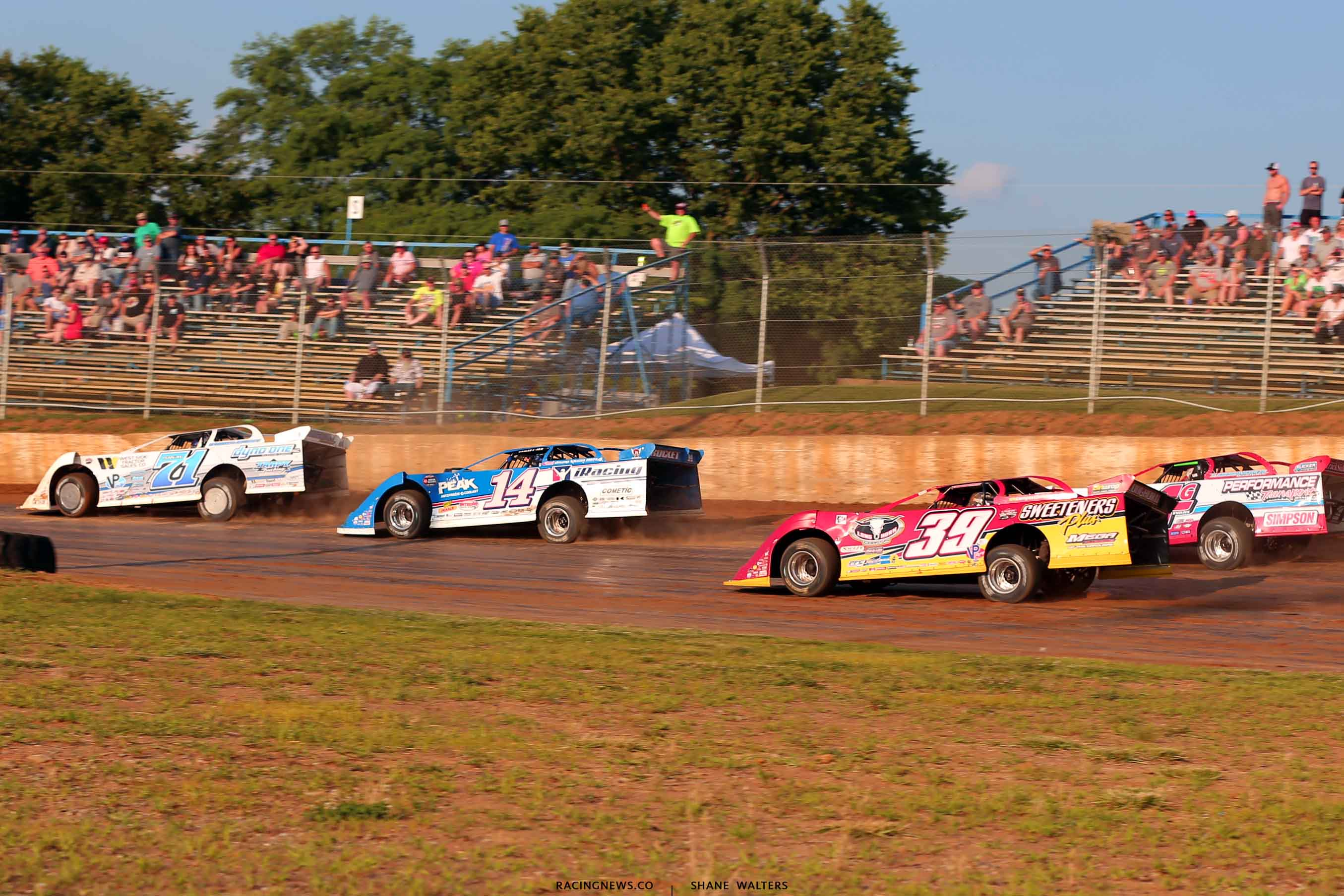 Hudson O'Neal, Josh Richards, Kody Evans and Tim McCreadie at Florence Speedway - Lucas Oil Late Model Dirt Series 6942