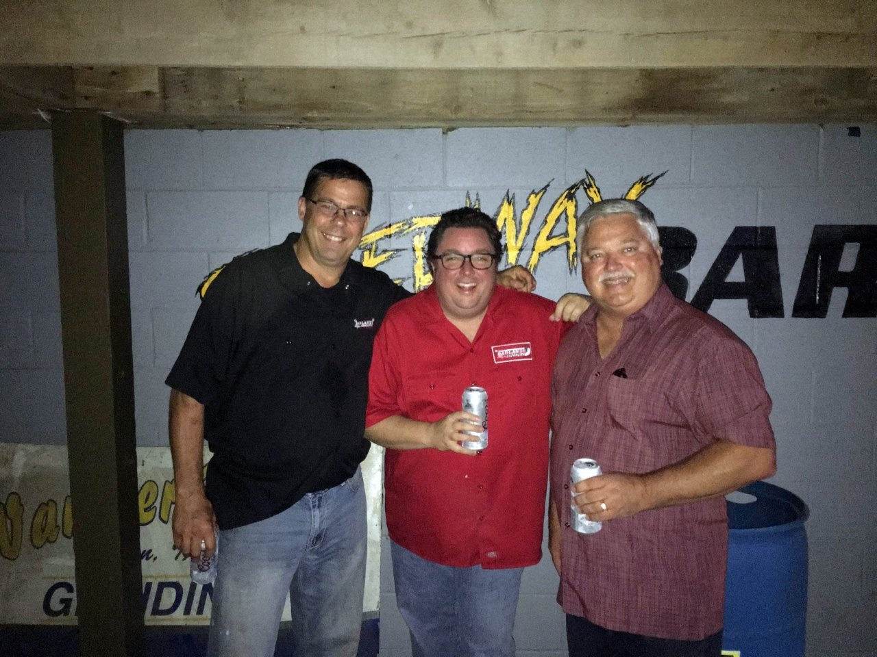 Jay Masur, Chuck Brennan and Steve Rubin at Huset's Speedway