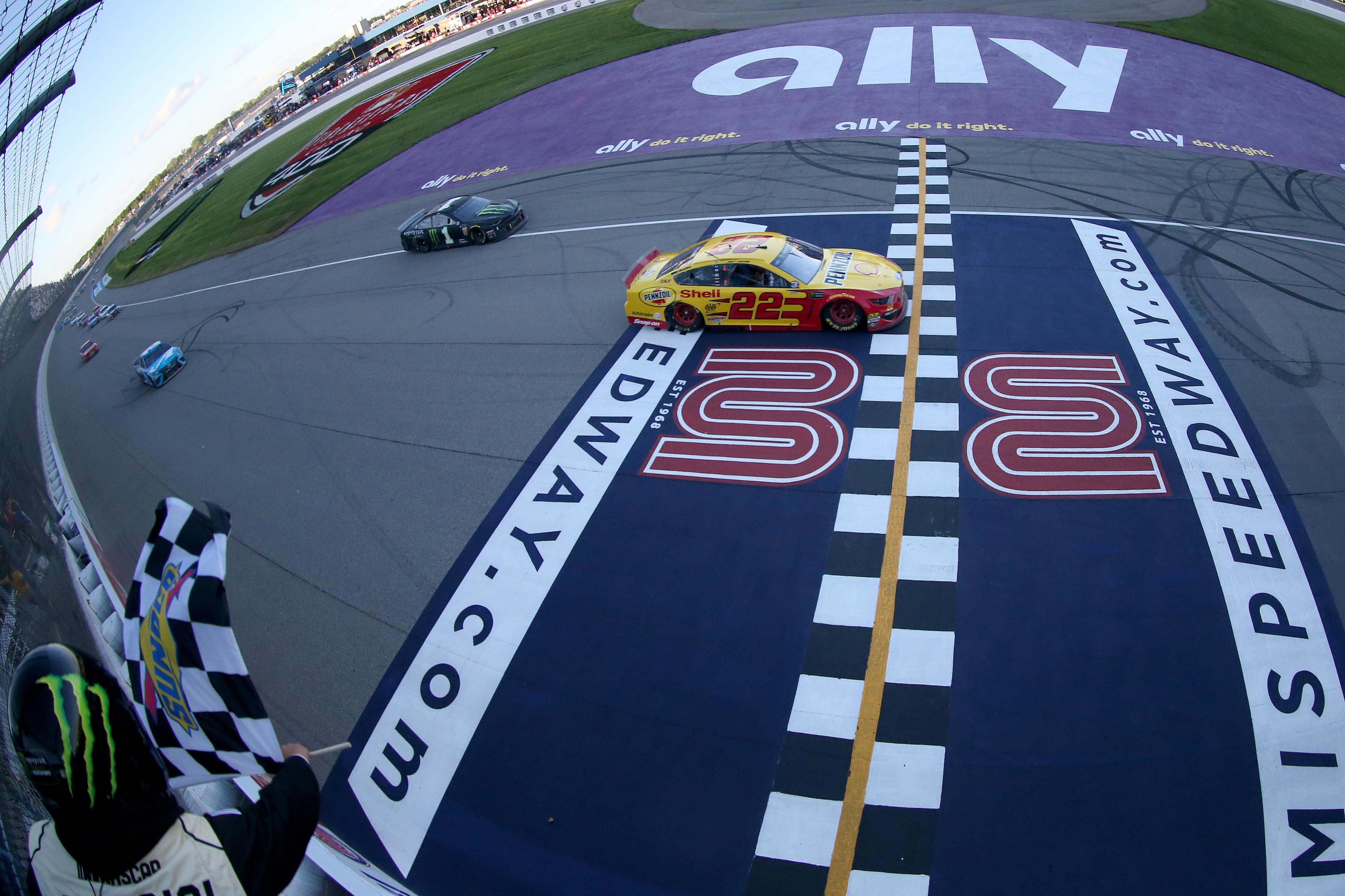 Joey Logano wins at Michigan International Speedway