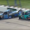 Johnny Sauter wrecks Austin Hill under caution at Iowa Speedway - NASCAR