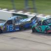 Johnny Sauter wrecks Austin Hill under caution at Iowa Speedway - NASCAR