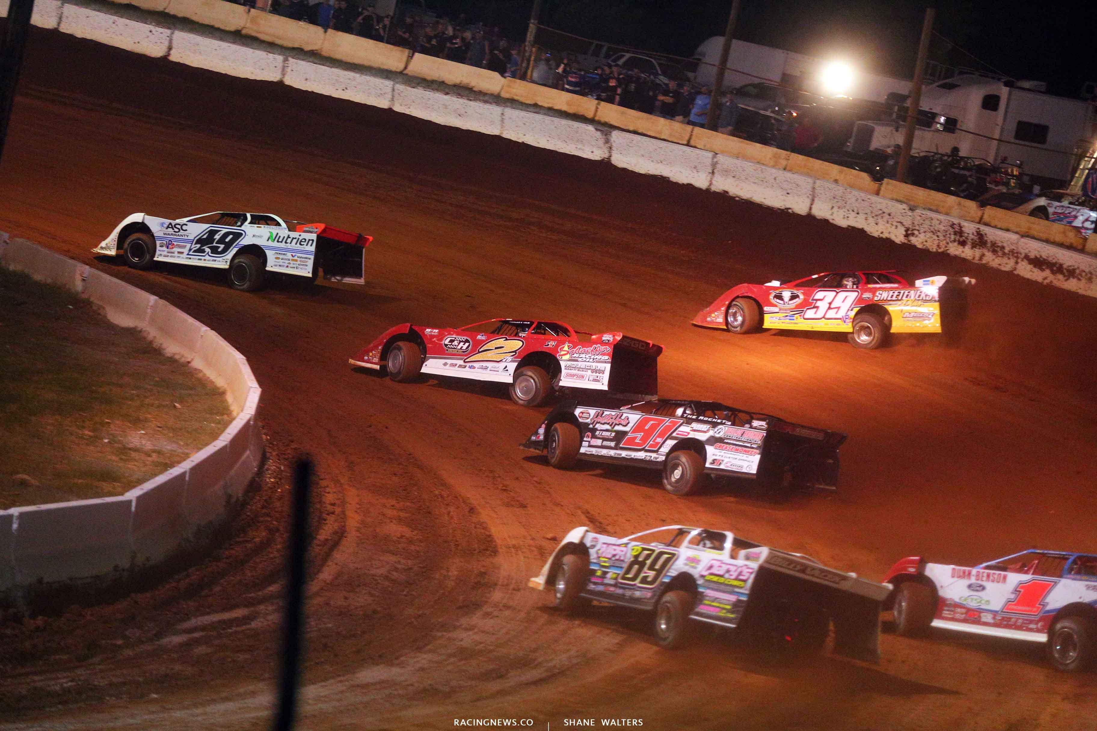 Jonathan Davenport, Tim McCreadie and Brandon Overton at Cherokee Speedway 5589