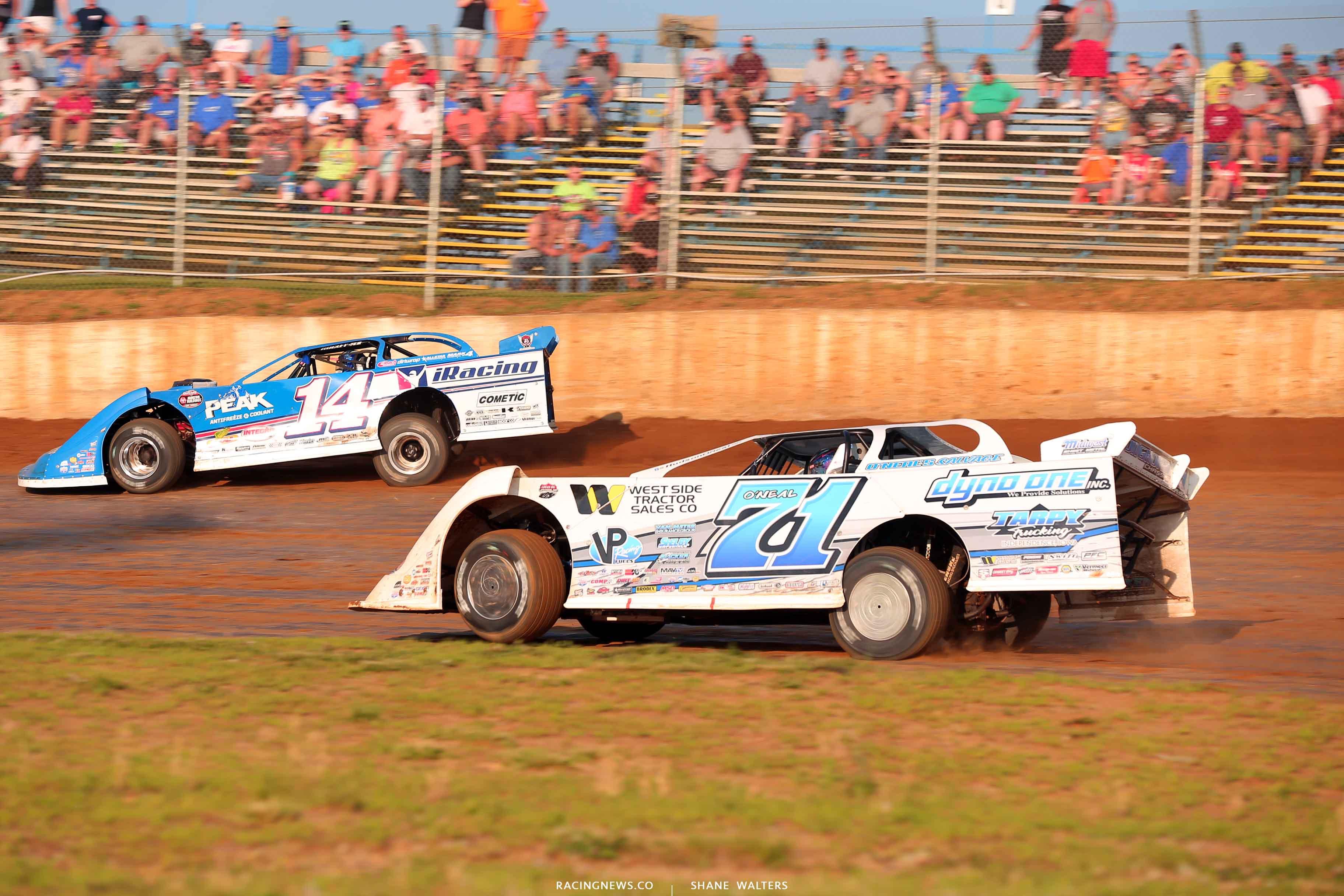 Josh Richards and Hudson O'Neal at Florence Speedway - LOLMDS 6954