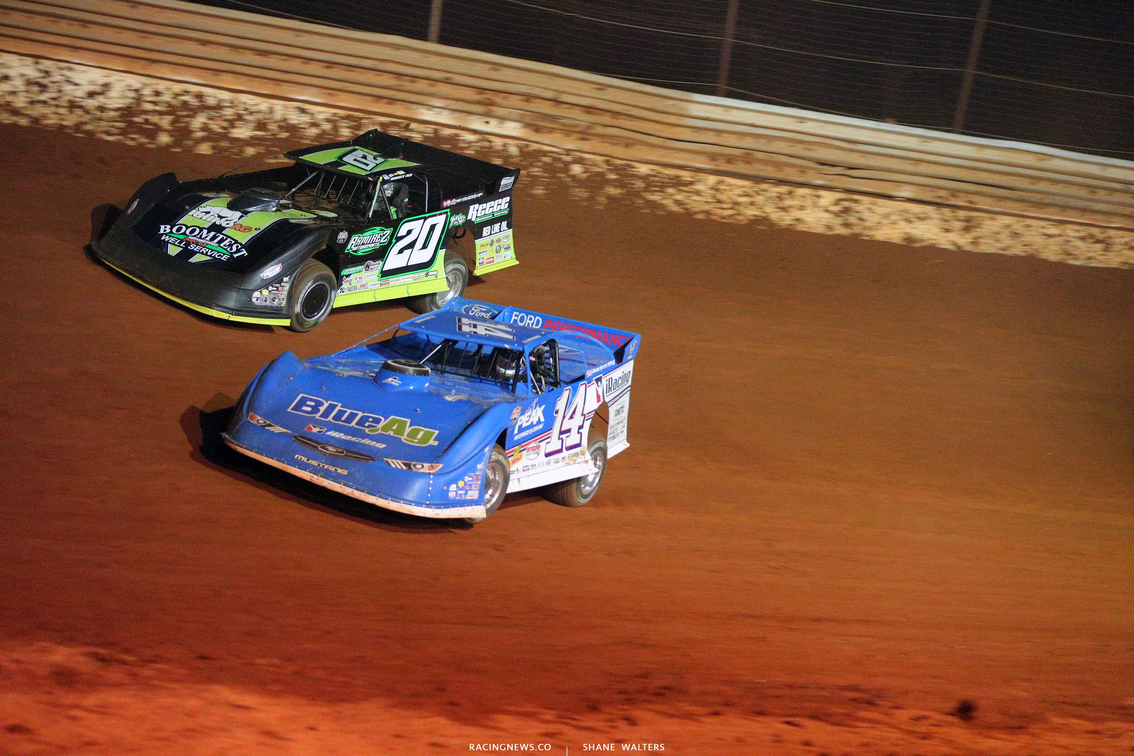 Josh Richards and Jimmy Owens at Tazewell Speedway 6556