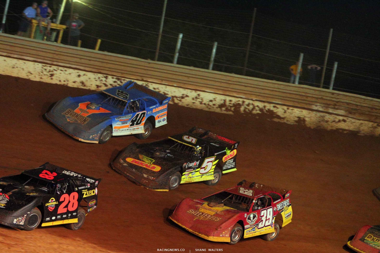 Kyle Bronson, Michael Norris and Tim McCreadie at Tazewell Speedway 6627
