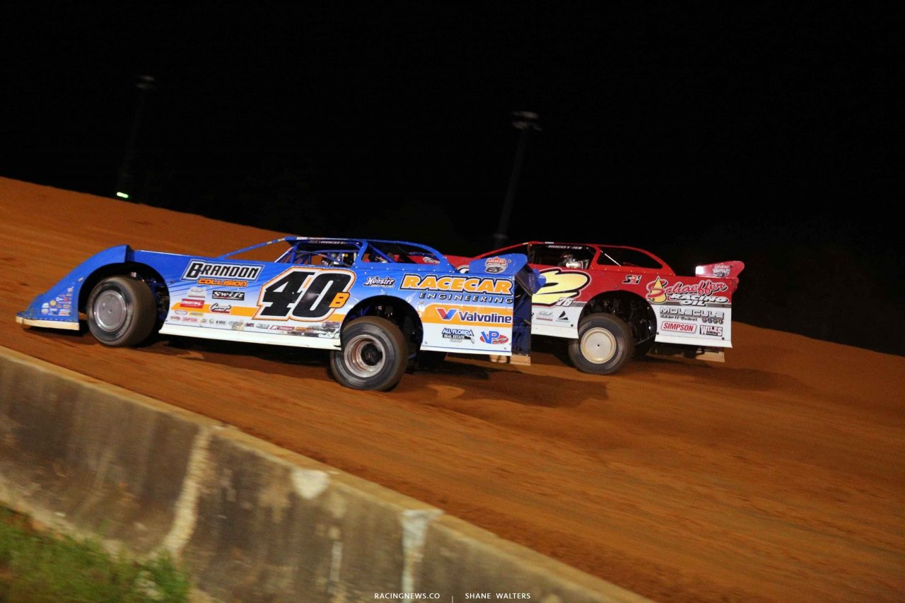 Kyle Bronson and Brandon Overton at Fayetteville Motor Speedway 5301