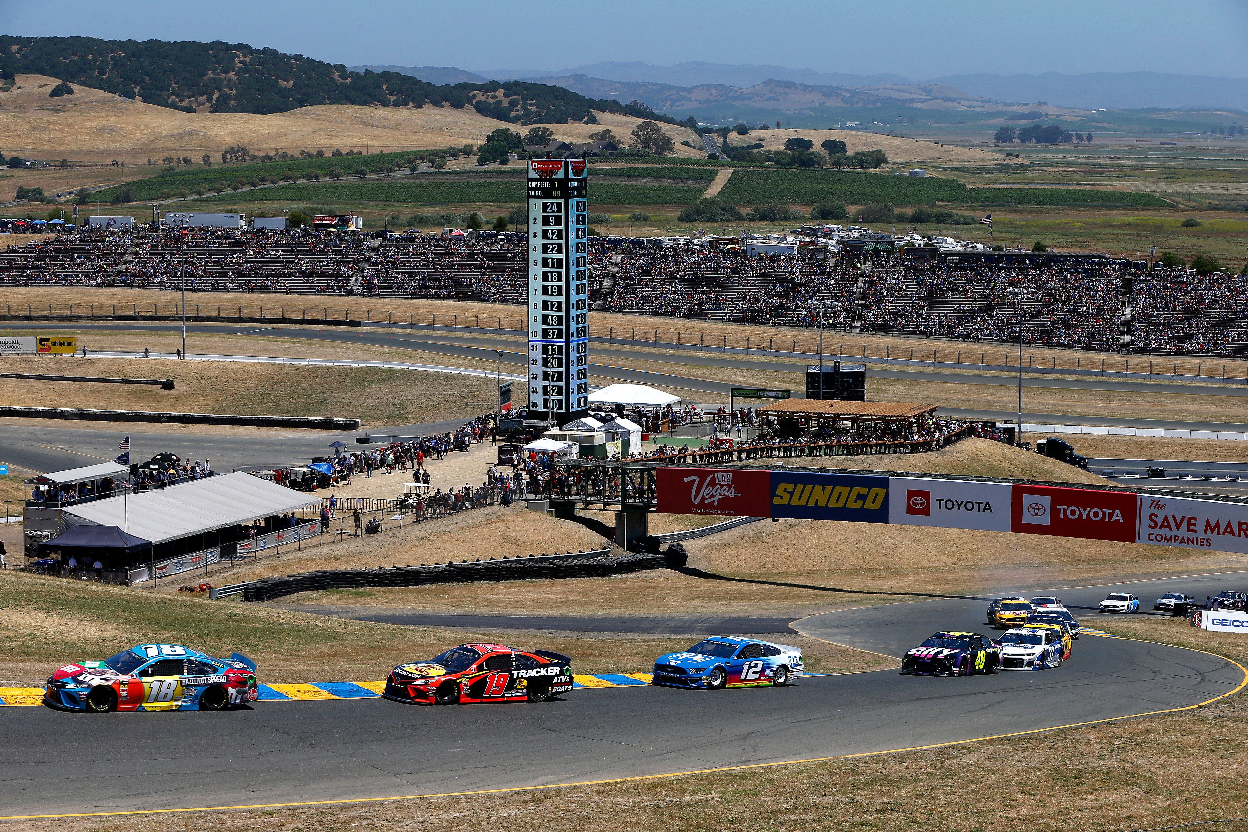 Kyle Busch, Martin Truex Jr and Ryan Blaney at Sonoma Raceway - NASCAR Road Course