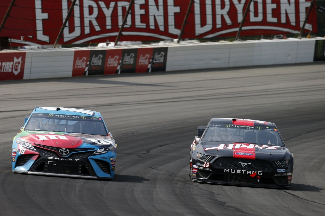 Kyle Busch and Clint Bowyer at Pocono Raceway