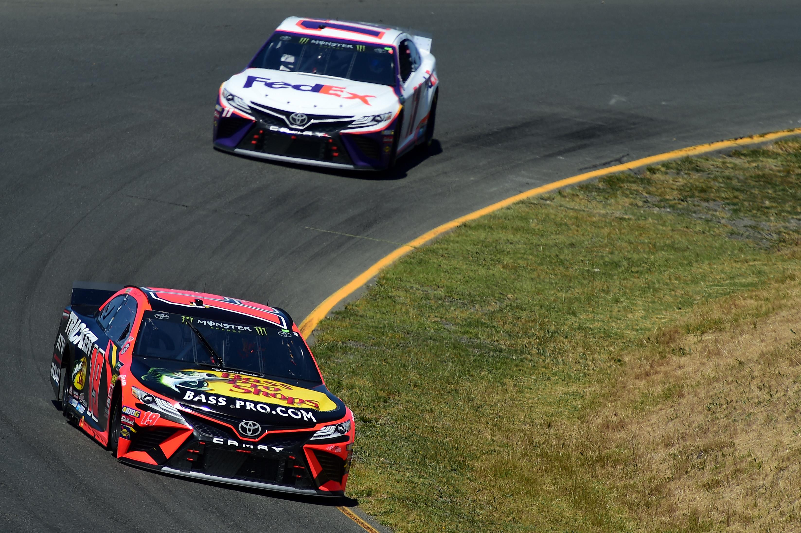 Martin Truex Jr and Denny Hamlin at Sonoma Raceway - NASCAR