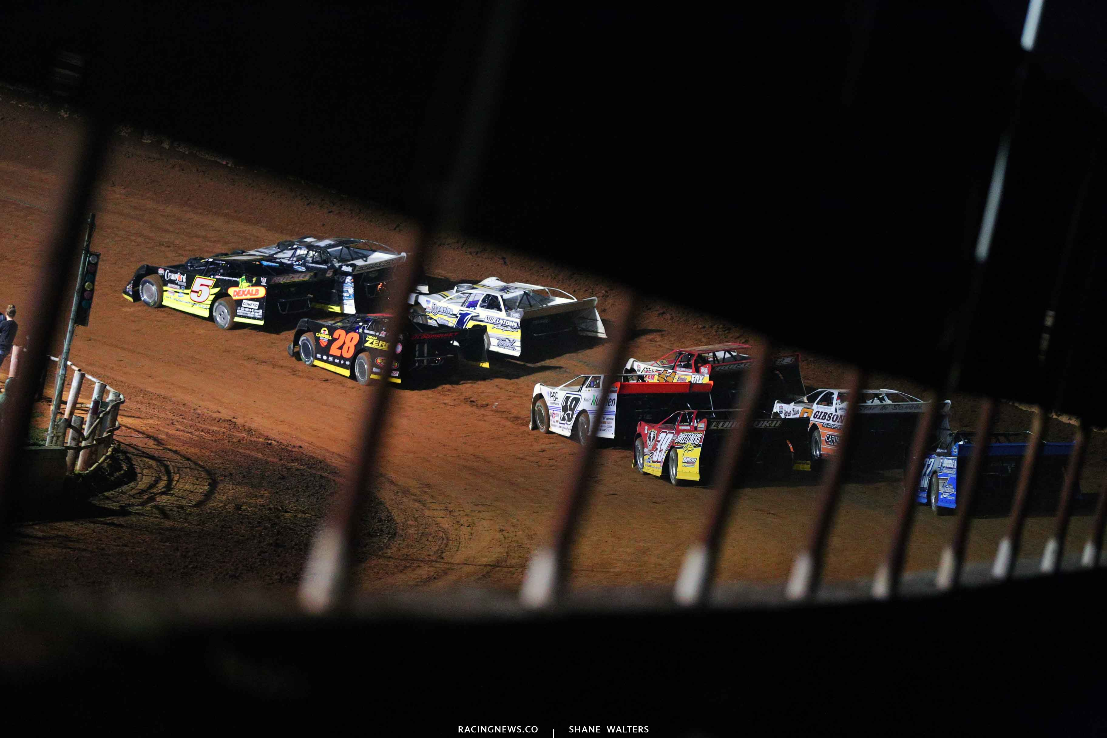Michael Norris, Ryan King, Jeff Wolfenbarger, Jonathan Davenport and Tim McCreadie at Tazewell Speedway 6538