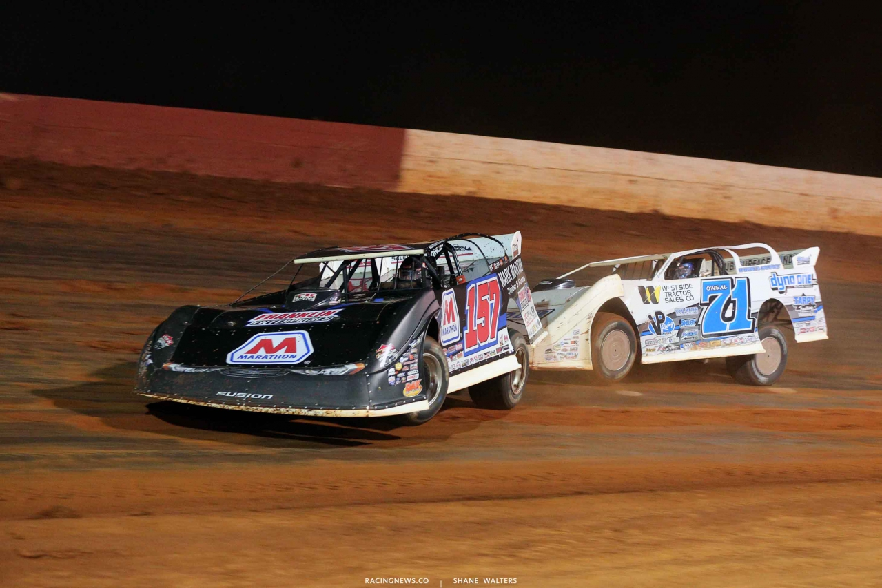 Mike Marlar and Hudson O'Neal at Smoky Mountain Speedway - Lucas Oil Series 6114