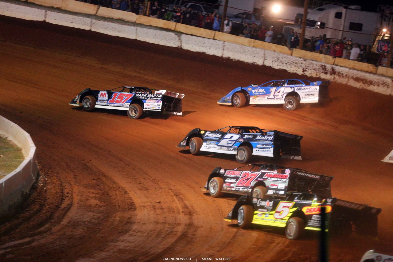Mike Marlar and Josh Richards at Cherokee Speedway - Lucas Oil Late Models 5574