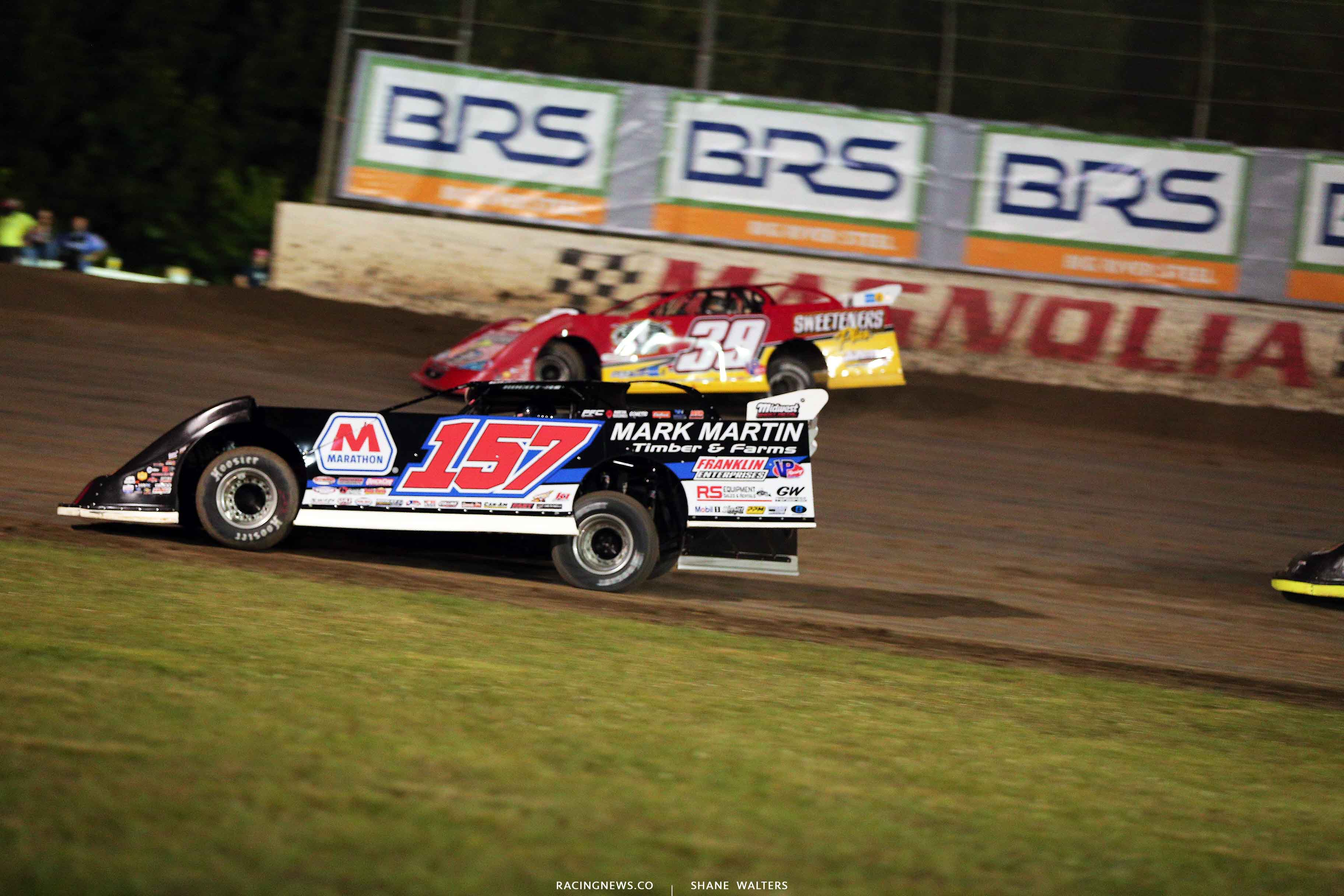 Mike Marlar and Tim McCreadie at Magnolia Motor Speedway - Lucas Oil Late Model Dirt Series 4674