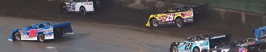 Rain falls during dirt race at Eldora Speedway; They all crash (VIDEO)
