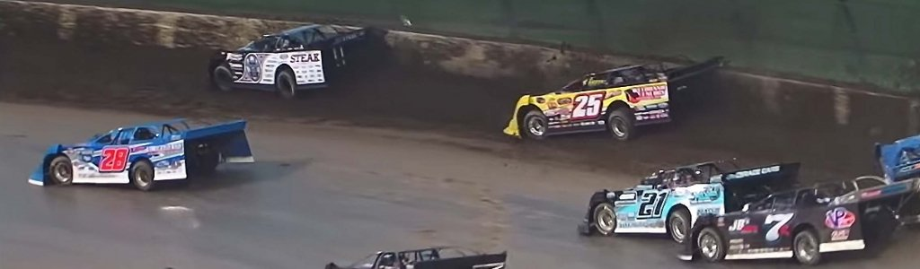 Rain falls during dirt race at Eldora Speedway; They all crash (VIDEO)