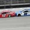 Ryan Blaney and Alex Bowman at Michigan International Speedway