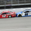 Ryan Blaney and Alex Bowman at Michigan International Speedway